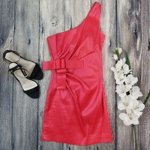 Verty Red Bodycon One Shoulder Dress